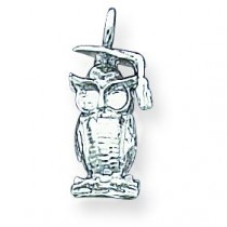 Graduation Owl Charm in Sterling Silver
