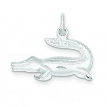 Alligator Charm in Sterling Silver