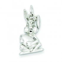 Easter Bunny Charm in Sterling Silver