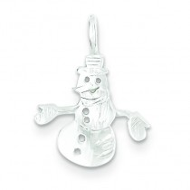 Snowman Charm in Sterling Silver