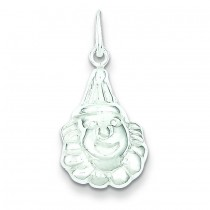 Clown Charm in Sterling Silver