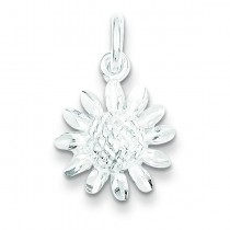 Floral Charm in Sterling Silver