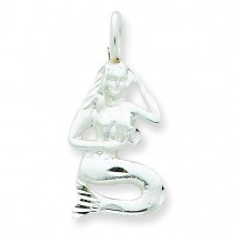 Mermaid Charm in Sterling Silver