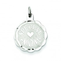 Special Mom Disc Charm in Sterling Silver