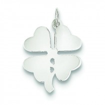 Clover Disc Pendant in Sterling Silver