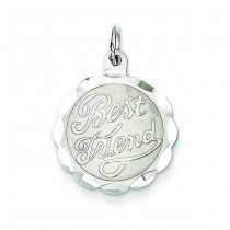 Best Friend Disc Charm in Sterling Silver