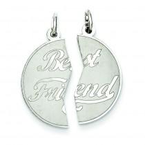 Best Friend Disc Charm in Sterling Silver