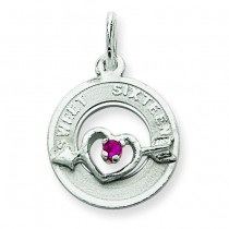 Sweet Sixteen Charm in Sterling Silver