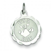 Its A Boy Charm in Sterling Silver