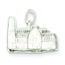 Westminster Abbey Charm in Sterling Silver