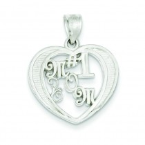 Mom Charm in Sterling Silver