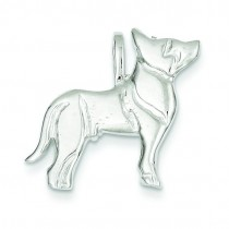 Dog Charm in Sterling Silver