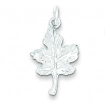 Leaf Charm in Sterling Silver