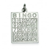 Bingo Card Pendant in Sterling Silver