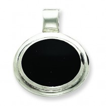 Onyx Pendant in Sterling Silver