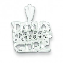 Daddy Little Girl Charm in Sterling Silver