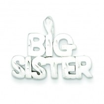 Big Sister Charm in Sterling Silver
