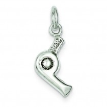Hair Dryer Charm in Sterling Silver