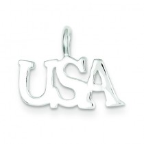 USA Charm in Sterling Silver
