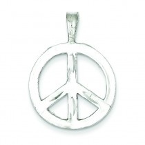 Peace Symbol Charm in Sterling Silver