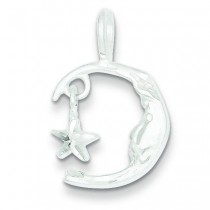 Moon Star Charm in Sterling Silver