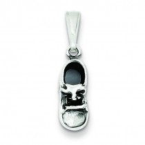 Antiqued Shoe Charm in Sterling Silver