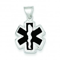 Medical Charm in Sterling Silver