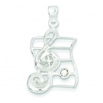 Musical Charm CZ in Sterling Silver