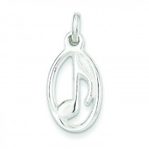 Music Note Charm in Sterling Silver