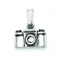 Antiqued Camera Charm in Sterling Silver