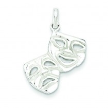 Comedy Tragedy Charm in Sterling Silver