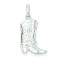 Cowboy Boot Charm in Sterling Silver