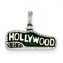 Green Hollywood Charm in Sterling Silver