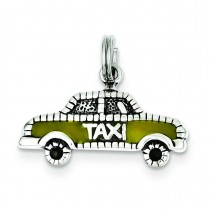 Taxi Charm in Sterling Silver