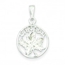 Canada Charm in Sterling Silver