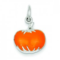 Orange Pumpkin Charm in Sterling Silver