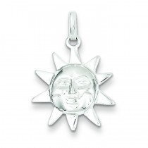 Sun Charm in Sterling Silver