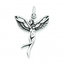 Antiqued Fairy Pendant in Sterling Silver