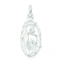 Unicorn In Frame Charm in Sterling Silver