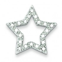 CZ Star Pendant in Sterling Silver