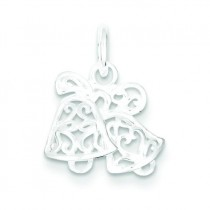 Filigree Scroll Bells Pendant in Sterling Silver