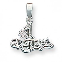 Number One Grandma Pendant in Sterling Silver