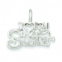 I Heart My Sister Pendant in Sterling Silver