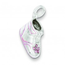 Baby Shoe Charm in Sterling Silver