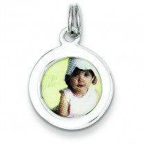 Photo Charm in Sterling Silver