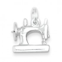 Sewing Machine Charm in Sterling Silver