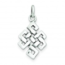 Antiqued Square Celtic Knot Charm in Sterling Silver