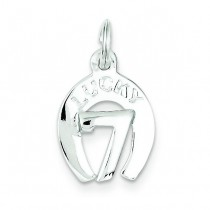 Lucky Horseshoe Charm in Sterling Silver