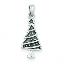 Christmas Tree Pendant in Sterling Silver