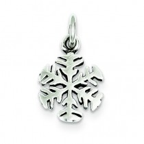 Antique Snowflake Charm in Sterling Silver